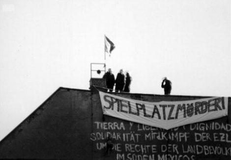Besetzte-Häuser Kreuziger-Strasse - Räumung des Bauspielplatz 1990