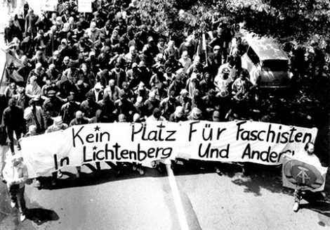 Antifa-Demo in Lichtenberg am 24.06.1990